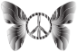 Groovy Peace Sign Butterfly 15