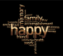 Happy Family Word Cloud