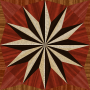 wooden triangle tiling