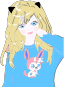 Blonde Anime Cat Girl