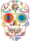 Prismatic Sugar Skull Silhouette 2 No Background