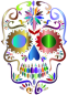 Prismatic Sugar Skull Silhouette 4 No Background