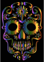 Chromatic Sugar Skull Silhouette