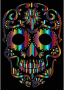 Chromatic Sugar Skull Silhouette 3