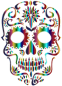 Chromatic Sugar Skull Silhouette 3 No Background