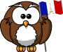 Owl with French flag
