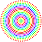 Prismatic Radial Dots