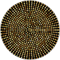 Gold Radial Dots
