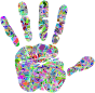 Technicolor Handprint Silhouette