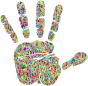 Technicolor Handprint Silhouette 2
