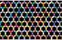 Prismatic Hexagonal Geometric Pattern