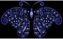 Prismatic Floral Flourish Butterfly Silhouette 7