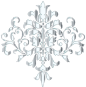 Silver Damask Design No Background