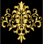 Gold Damask Design