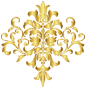 Gold Damask Design No Background