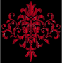Crimson Damask Design