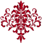 Crimson Damask Design No Background