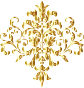 Golden Damask Design No Background