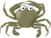 Cartoon Crab Green