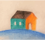 Small home righted (oil painting look)