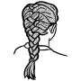 french braid - lineart