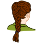 french braid - coloured