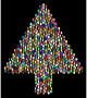 Prismatic Hexagonal Abstract Christmas Tree 6 Variation 2