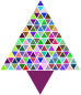 Prismatic Abstract Triangular Christmas Tree
