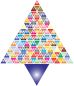 Prismatic Abstract Triangular Christmas Tree 2