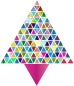 Prismatic Abstract Triangular Christmas Tree 3