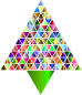 Prismatic Abstract Triangular Christmas Tree 7