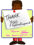 The GʊGʊ-team is saying thank you to Openclipart