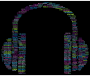 Music Headphones Word Cloud