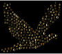 Gold World Religions Peace Dove