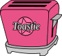 Cherry chrome 1950s style toaster