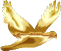 Gold Flying Dove Silhouette No Background