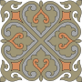 Elegant decorative tile
