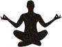 Prismatic Molecular Yoga Pose Silhouette 14 With Background