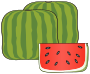 Cubical watermelon