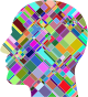 Prismatic Patchwork Man Head