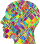 Prismatic Patchwork Man Head 2