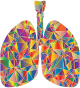 Prismatic Low Poly Lungs Silhouette