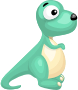 Cartoon dinosaur vector clipart graphics />