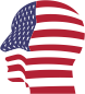 Man Head America Flag