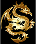 Gold Tribal Dragon 56