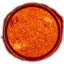 Sun with outline