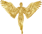 Angel Silhouette Gold