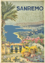 Sanremo Italy Vintage Travel Poster Trace 2
