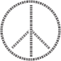 Peace Sign Piano Keys