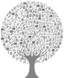 Medical Icons Tree Grayscale